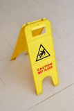 Caution Sign For Wet Floor Royalty Free Stock Image