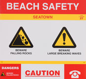 Caution sign Stock Photos