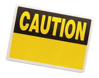 Caution Sign Royalty Free Stock Photos