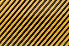 Caution sign siding oblique line layout metal material backgroun Royalty Free Stock Photos
