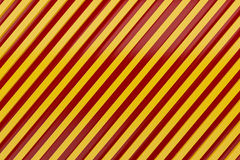 Caution sign siding oblique line layout metal material backgroun Royalty Free Stock Photo