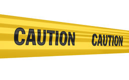 Caution sign. Caution tape strips (isolated on white and clipping path Stock Image