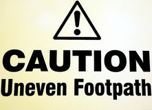 Caution ! Royalty Free Stock Images