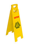Caution sign warning of wet floor Royalty Free Stock Photos
