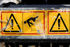 Caution sign Stock Photo