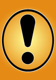 Caution signal. Exclamation  caution signal in black color eps Royalty Free Stock Image