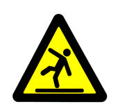 Caution signal of fall Royalty Free Stock Photography