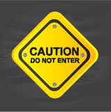 Caution signal Royalty Free Stock Photo