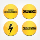 Caution signs Royalty Free Stock Photography