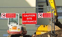 Caution - Site Entrance Stock Images