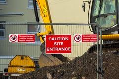 Caution - Site Entrance Stock Photos