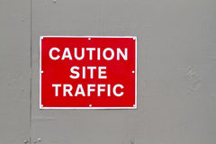 Caution site traffic warning sign Royalty Free Stock Photos