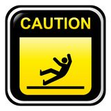 Caution - slippery Royalty Free Stock Photo
