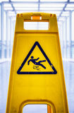 Caution slippery surface sign Stock Image