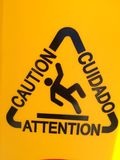 Caution. Slippery When Wet Royalty Free Stock Photography