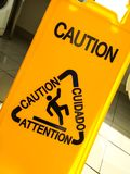 Caution. Slippery When Wet Royalty Free Stock Image