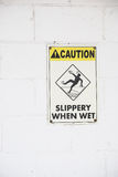 Caution, Slippery when wet Stock Photography