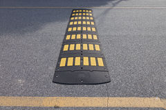 Caution, Speed Bump Royalty Free Stock Photos