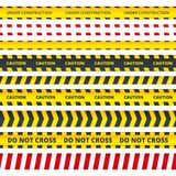 Caution stripe. Danger or attention messages security police crime scene signs vector pattern royalty free illustration