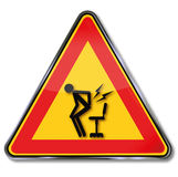 Caution sudden pain by  getting up Royalty Free Stock Photography