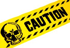 Caution Tape. Photo of Yellow and Black Caution Tape royalty free stock photography
