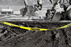 Caution tape. With a black and white back round stock images