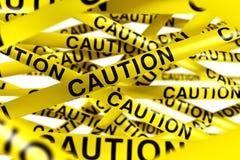 Caution tape royalty free illustration
