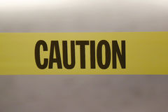Caution tape. Protecting from crime scene Royalty Free Stock Photography