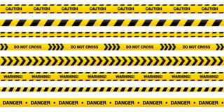 Free Caution Tape Set Of Yellow Warning Ribbons. Royalty Free Stock Image - 165763276
