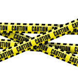 Caution tape. On white background royalty free stock photos