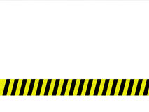 Caution tape. White background with caution tape Stock Images