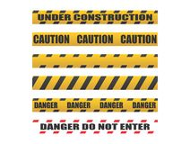 Caution tapes, Danger tapes Stock Photos