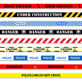 Caution tapes seamless Stock Photography