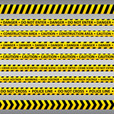 Caution tapes. Stock Photography