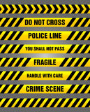 Caution tapes - yellow and black warning pattern Royalty Free Stock Photography