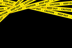 Caution Tapes Royalty Free Stock Photo