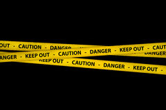 Caution Tapes Stock Photography