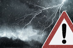 Caution - Thunderstorm Royalty Free Stock Image