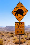 Caution, Tortoise Crossing Royalty Free Stock Photography