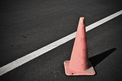 Caution Traffic Cone Stock Photo