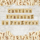 Caution training in progress Stock Images