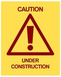 CAUTION Under Construction Stock Photography