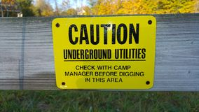 Caution: Underground Utilities Royalty Free Stock Images