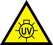 Caution, UV light Do Not Look. Warning Sign. royalty free illustration