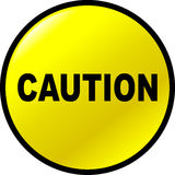 Caution vector yellow button Royalty Free Stock Photography