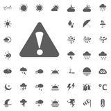 Caution, warning icon. Weather vector icons set. Royalty Free Stock Images