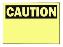 Caution Warning Sign Royalty Free Stock Photography