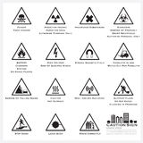 Caution And Warning Sign Icons Set Royalty Free Stock Photography