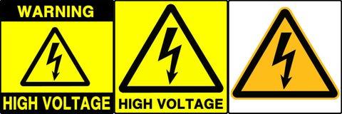 Caution/warning signs set, IV stock illustration
