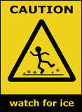 Caution watch for ice Royalty Free Stock Photography